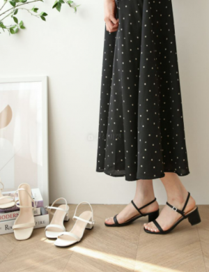 Comforty middle heel strap sandals
