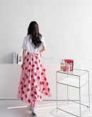 Juice box Graphic A Line Skirt