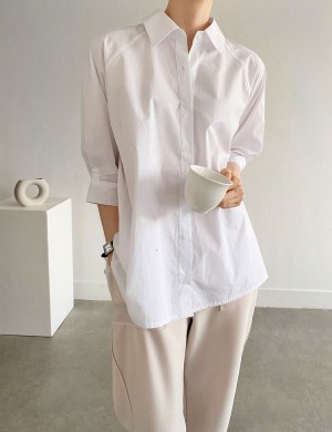 Button Down Shirt with Back Pleats