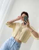 Twisted Knit Pastel Top