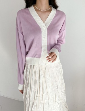 Contrast Two Tone Cardigan
