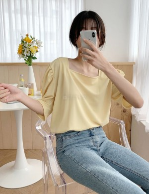 Kelly Square Neck Puff Sleeve Blouse