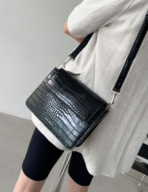 Square Synthetic Leather Shoulder Bag