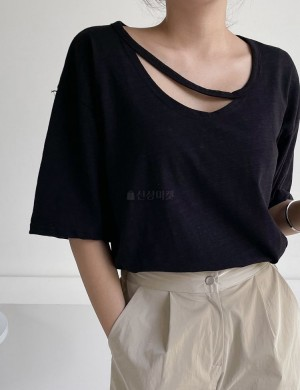Loose Fit T-shirt with Strap