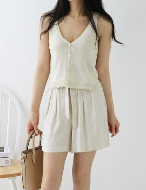 Button up Knit Tank Top