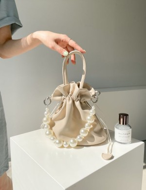 Shell Shaped Purse With Pearl Handles