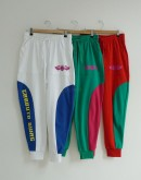 Street Style Color Contrast Jogger Pants