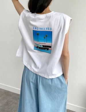 Aesthetic Summer Graphic Tank Top