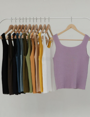 12 colors basic roundneck sleeveless top