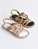 Aida Woven Rope Sandals