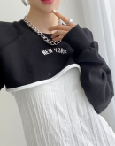 NYC Super Short Cropped Long Sleeve Top