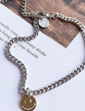 Happy Face Chain Anklet