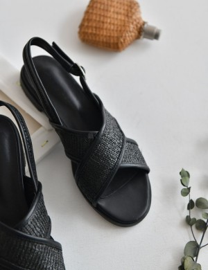 Maui Woven Straw Sandals